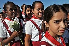 Niños cubanos.|Efe