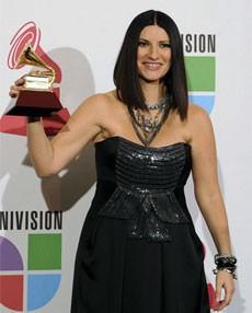 Laura Pausini en la entrega de los Grammy Latinos. |Efe