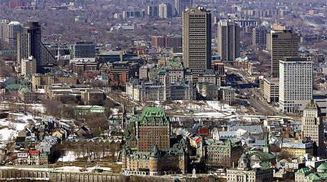 Vista panorámica de la ciudad de Québec.