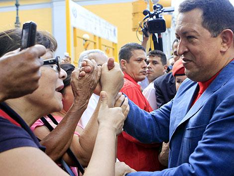 Chávez, en un acto público en Caracas. | Reuters