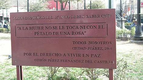 Cartel en apoyo de las mujeres de Ciudad Juarez. Marta Arroyo