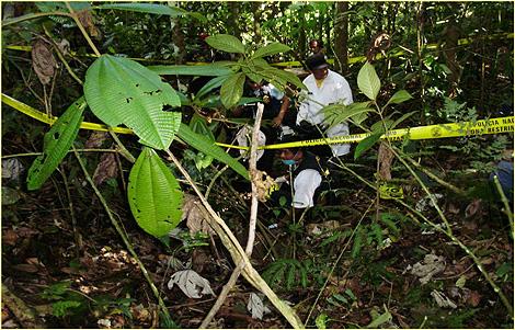 Lugar donde fueron hallados los cuerpos descuartizados. | Efe