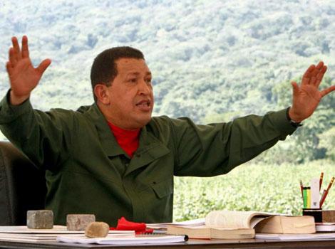 El presidente Hugo Chávez en su programa televisivo.| Efe