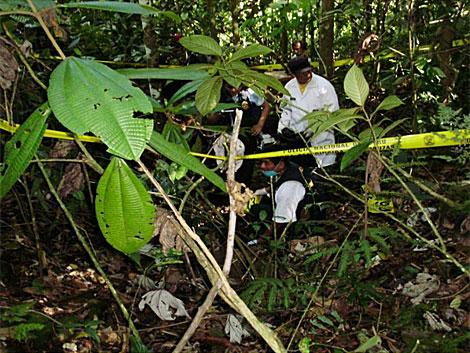 Este es el lugar donde encontraron los restos de las víctimas.| Efe| PNP