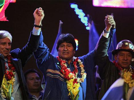 Evo Morales participa en acto de la cierre de su campaña. |Efe