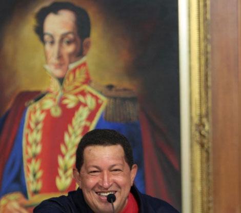 Hugo Chávez, el viernes durante un acto en Caracas. | EFE