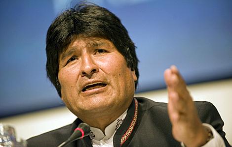 Evo Morales, en un momento durante la cumbre de Copenhague. | Efe