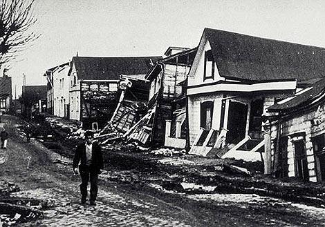 El terremoto de Valdivia, en Chile, fue el mayor movimiento telúrico jamás registrado.