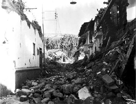 Terremoto en Huarás.