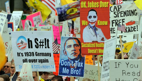 "Manifestación en Washington de un grupo conservador ""Tea Party Patriots"" contra Obama. 