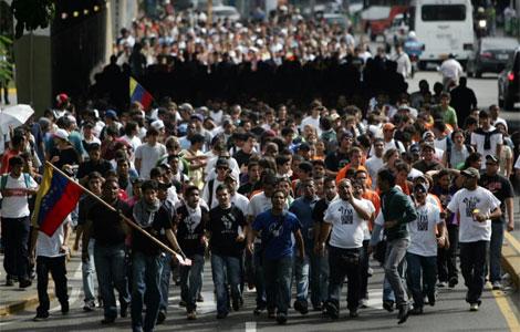 Imagen de la manifestación contra la decisión del cierre de RCTV. | Ap