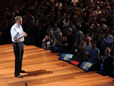 El fundador de Microsoft en la conferencia.   James Duncan Davidson