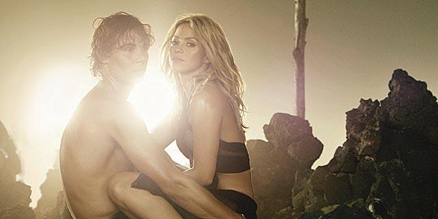 Nadal y Shakira, durante la grabación del último videoclip de la cantante colombiana. | ELMUNDO.es