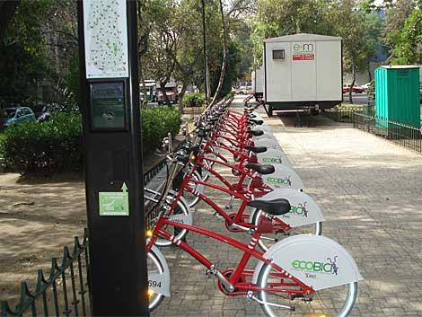 Algunas de las nuevas bicicletas del proyecto 'Ecobici' | Begoña Urquidi