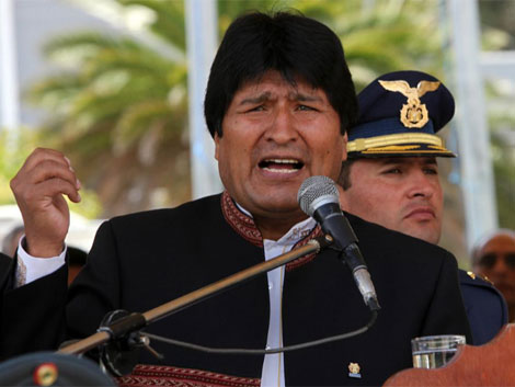 Morales discursa en el Colégio Militar a inicios de febrero. | Efe
