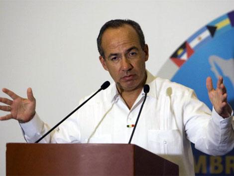 El anfitrión de la Cumbre, el presidente de México, Felipe Calderón. | Reuters