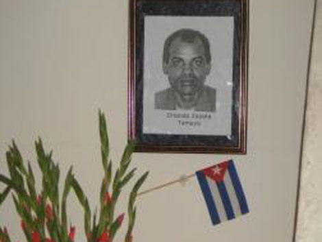 Un velorio simbólico de Zapata en La Habana.  L.D.