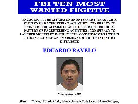 Uno de los más buscados por el FBI, Eduardo Ravelo. | Foto:FBI