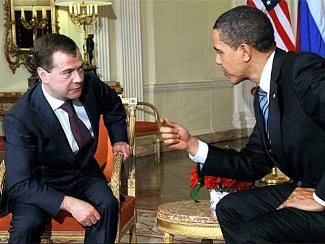Los presidentes de Rusia y EEUU durante una reunión en el 2009. | ELMUNDO.es