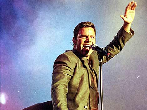Ricky Martin en concierto en 1998. | AP