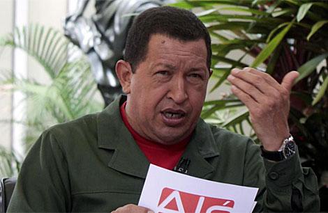 Hugo Chávez durante su intervención semanal en Aló Presidente. | Reuters