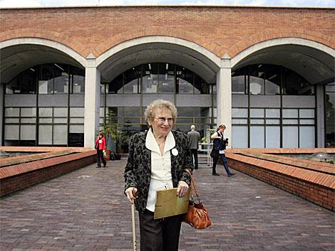 La vicepresidenta de la asociación Abuelas de la Plaza de Mayo, Rosa Roisinblit, en Bogotá. | Efe