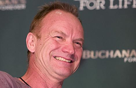 Sting, durante la rueda de prensa ofrecida este sábado en México. | Efe
