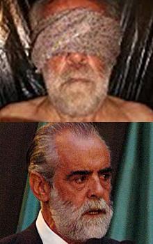 Arriba, la imagen del 'jefe Diego' secuestrado.