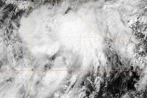 Imagen satélite de la tormenta tropical Agatha. | Ejército EEUU