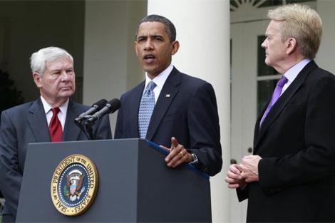 El presidente Obama durante su discruso sobre el vertido en la Casa Blanca. | AP
