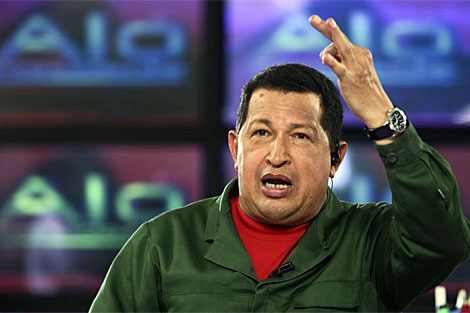 Chávez durante su intervención en su programa televisivo 'Aló Presidente'. | Reuters