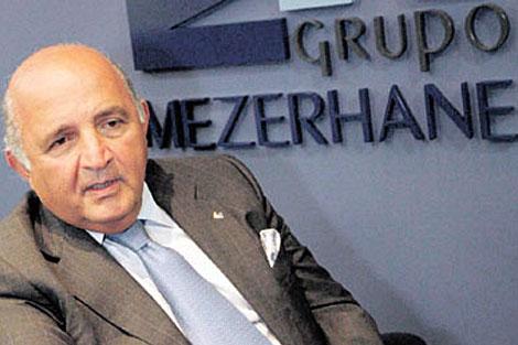 El presidente del Banco Federal y accionista de Globovisión, Nelson Mezerhane.