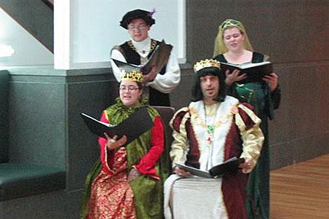 Actuación del grupo 'El Fenix de los Ingenios'.