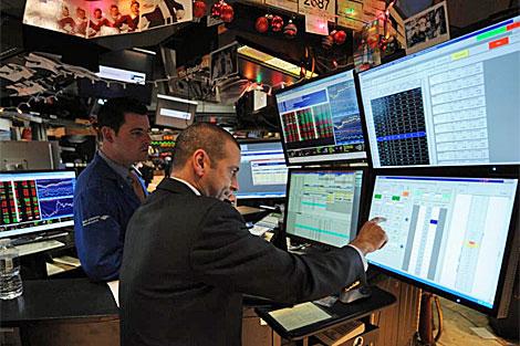 Bolsa de valores de Nueva York.   AFP