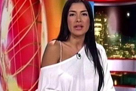 Ivonne Gómez en su programa televisivo, antes de morir.