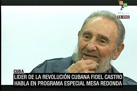 Fidel Castro en la televisión cubana. | AFP