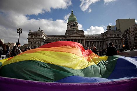 Imagen de las afueras del Congreso argentino. | Ap