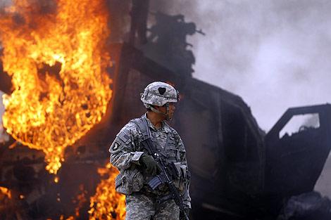 Un soldado estadounidense, durante una ofensiva en Afganistán.   Reuters