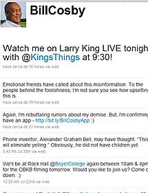 El Twitter de Bill Cosby.