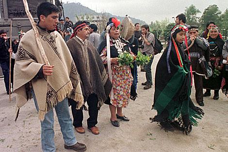 Mapuches en una manifestación en Chile. | ELMUNDO.es