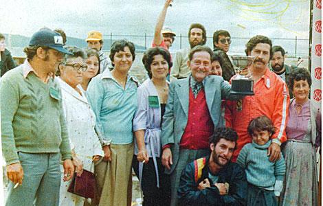 La familia de Pablo Escobar.