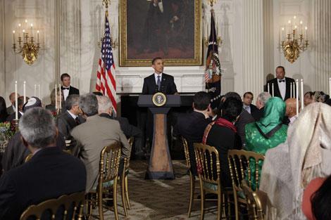 Obama celebra una cena de Ramdán en la Casa Blanca. | E