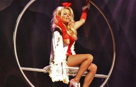 Pamela Anderson en el musical 'Aladino'.