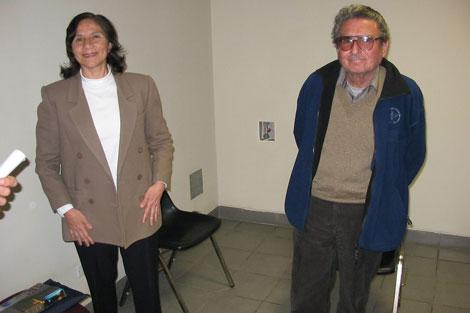 Los líderes de Sendero Luminoso Elena Iparraguirre y Abimael Guzmán.| Efe