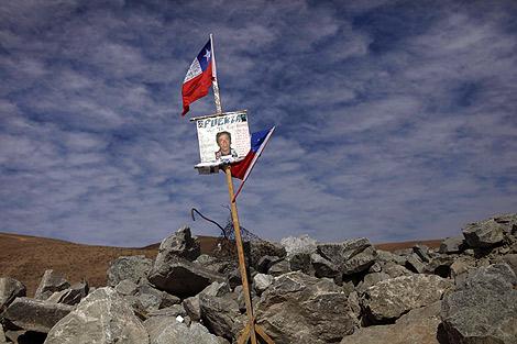La fotografía de uno de los mineros en el yacimiento. | Ap