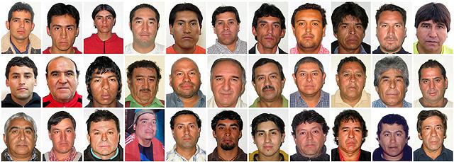 Imagen de los 33 mineros atrapados. | Reuters