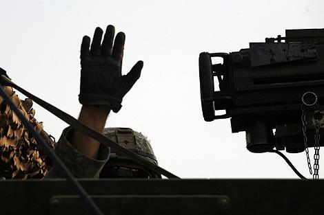 Un soldado estadounidense, durante su retirada de Irak. | Ap