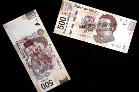 Los billetes con la imagen de Rivera y Frida. | Efe