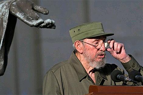 Fidel Castro pronuncia un discurso en la Universidad de La Habana. | EFE