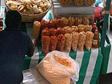 Uno de los puestos callejeros de México.